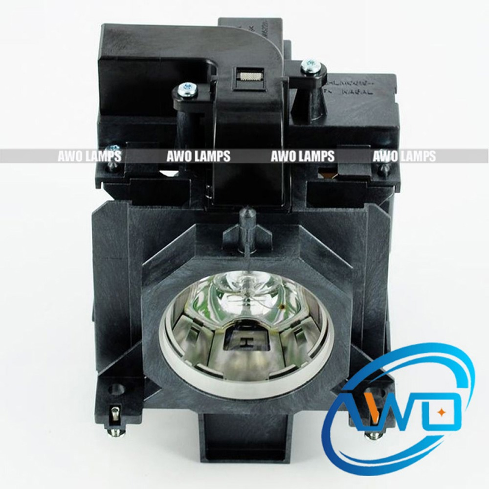 AWO Replacement Projector Lamp POA-LMP136 with Housing for SANYO PLC-XM150/XM150L/WM5500/WM5500L/ZM5000L plc xm150 plc xm150l plc wm5500 plc zm5000l poa lmp136 for sanyo compatible projector lamp bulbs with housing