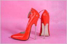 16 CM Absatzhöhe Sexy Spitzschuh Stiletto Pumps Partei Schuhe Metall ferse No. 108