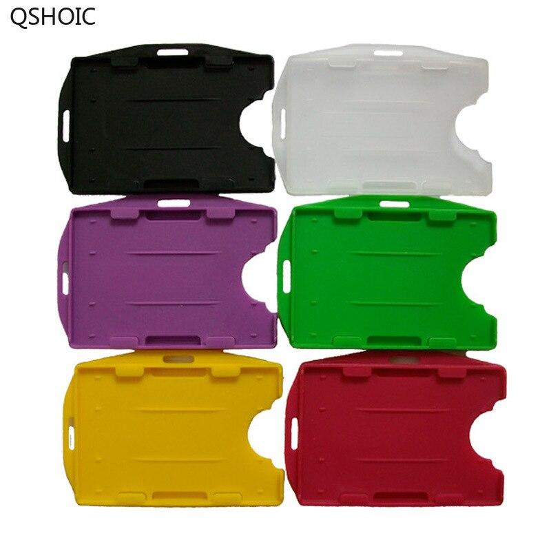 50PCS/SET Rigid / Hard Plastic Horizontal/Vertical ID Badge Holders50PCS/SET Rigid / Hard Plastic Horizontal/Vertical ID Badge Holders