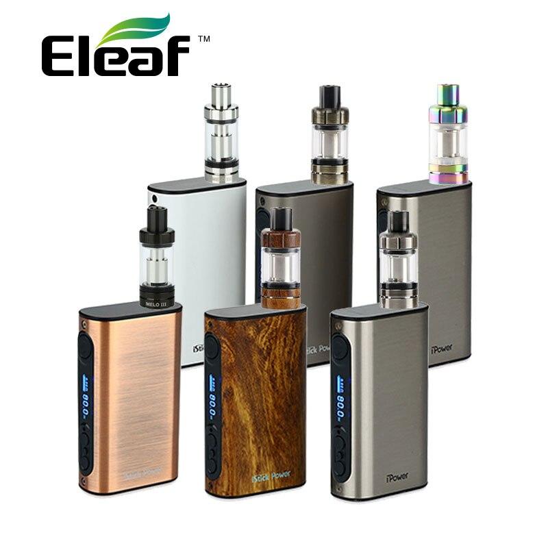Original 80W Eleaf iPower Vape Kit 5000mah with 4ml Eleaf Melo 3 Tank Atomizer Electronic Cigs 5000mah Eleaf iPower 80W Battery