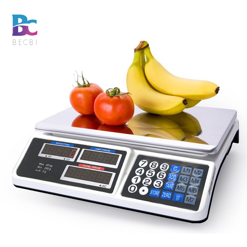 Kitchen Digital Electronic Scale 40KG Shop Weight Scales Food Commercial US Plug