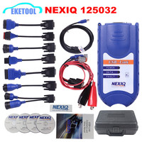DHL Free NEXIQ 125032 USB Link Heavy Duty Truck Diagnostic Interface Nexiq 125032 Diesel Truck Scanner With All Installers