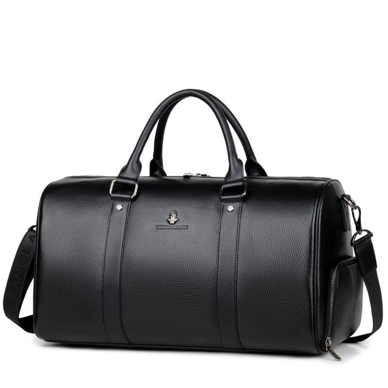 Genuine Leather Men Travel Bags Overnight Duffel Bag Weekend Travel Large Business Tote Bags Crossbody Travel Bags