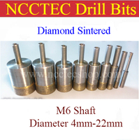 4mm 22mm Diamond Sintered Drill Bits FREE Shipping 1 8 0 88 WET Glass Hole Saw