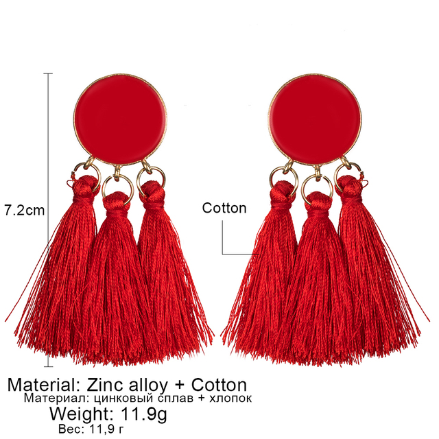 Tassel Drop Earrings