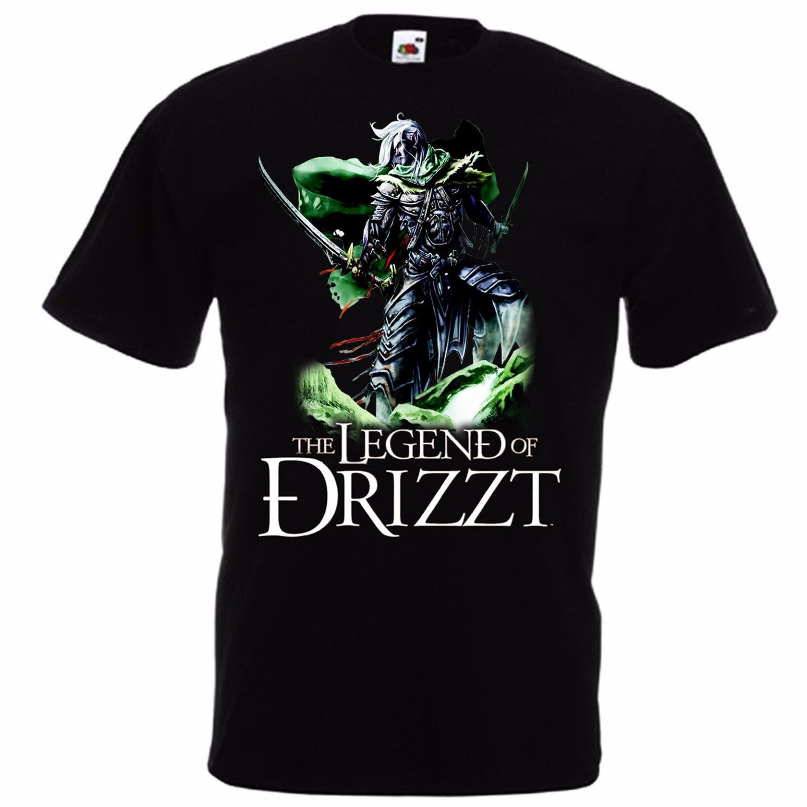 <font><b>Drizzt</b></font> Do'Urden Forgotten Realms Salvatore T-shirt The Legend of <font><b>Drizzt</b></font> S-3XL Summer Short Sleeves Cotton T Shirt Top Tee image