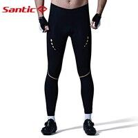 SANTIC мужской Cyling брюки весна MTB штаны Мягкий противоударный дышащая Велоспорт Брюки Для мужчин эластичные длинные брюки, спортивная одежда
