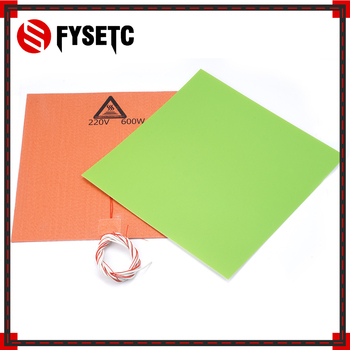 300X300mm Silicone Heater Pad Mat 220V 600W Heater With Green Frosted Sticker Build Sheet Plate For TEVO Tornado Lulzbot Taz6