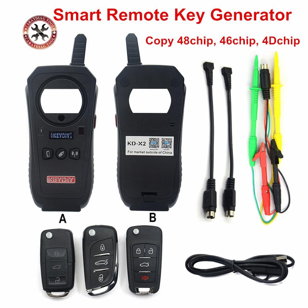 KEYDIY KD X2 Remote Maker Unlocker and Generator Transponder Cloning Device with 96bit 48 Transponder Copy