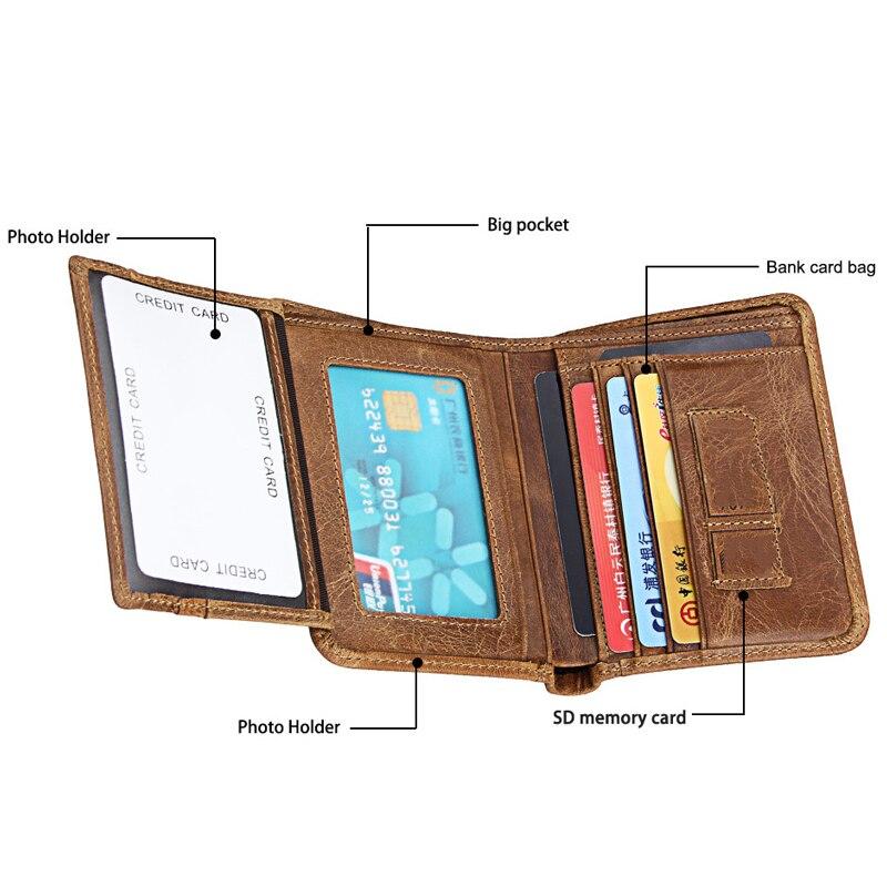 NBSAMENG Genuine Leather Men's Short Wallet Casual Card Holder Male Purse Trifold Male Vertical Wallet male leather casual short design wallet card holder pocket