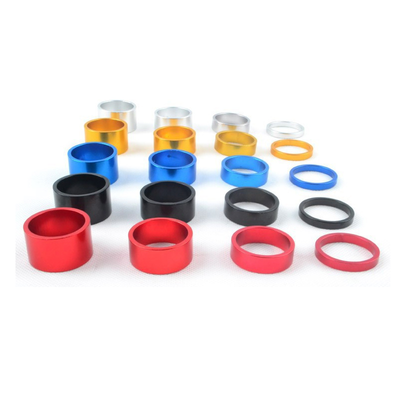 4Pcs/set 5/10/15/20mm Aluminum Alloy Headset Stem Spacer MTB 28.6mm Fork Washer Cap For Road Bike Cycling