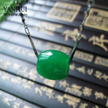 2016 новые тенденции мода 925 чиан ожерелье настоящее натуральный зеленый нефрит бусины ожерелье ювелирные изделия для женщин BKN041