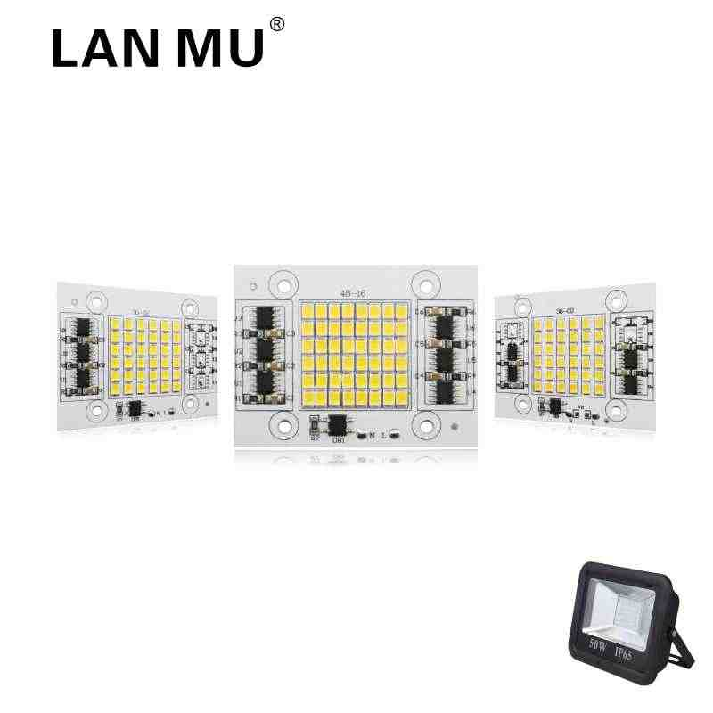 LAN MU LED Lamp Chip 2835SMD 20W 30W 50W Light Chip 220V Input Directly Smart IC Fit For DIY FloodLight Cold White Warm White