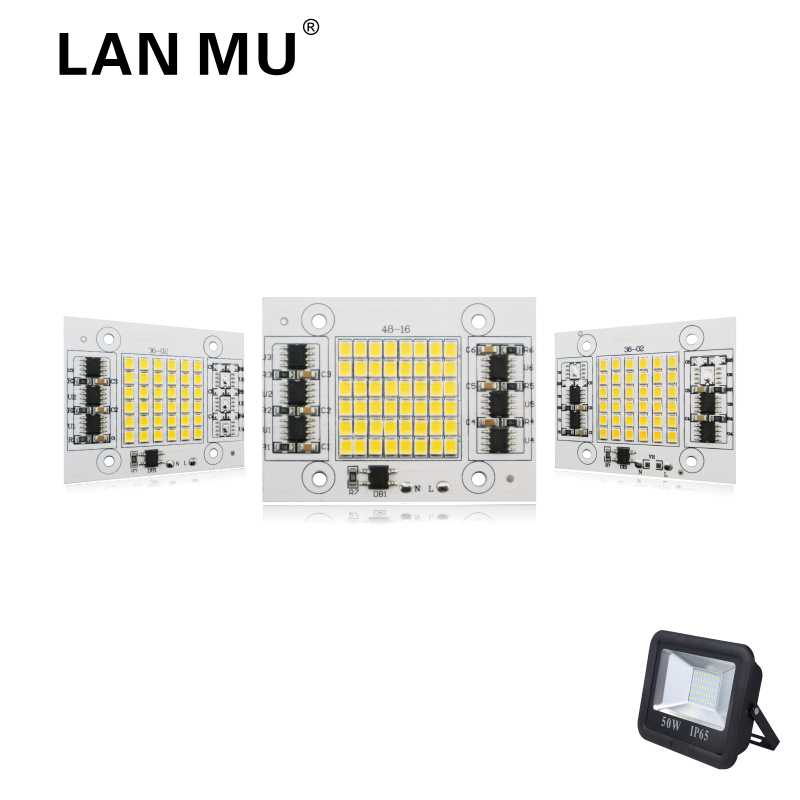LAN MU LED Lamp Chip 2835SMD 20W 30W 50W Light Chip 220V Input Directly Smart IC Fit For DIY FloodLight Cold White Warm White трусы private structure 209 mu 0649 white