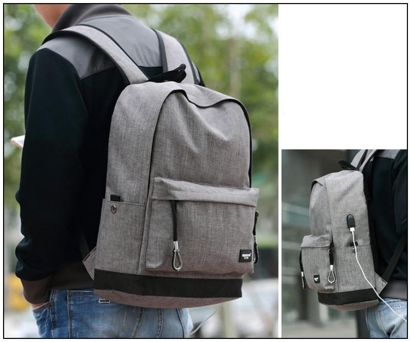 Mädchen Jungen Farbe Reise Taschen Rucksäcke Mode Gray Student Bokinslon Männer Leinwand Für Einfache Schule Frauen Casual black Simpl SvnPqZ