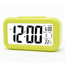 clock A long time for children smart , alarm , fashion student , electronic , bedside , LED creative mute lum