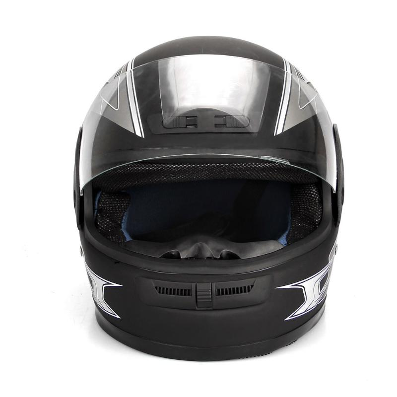 Motorcycle Helmet balck Half Open Face Adjustable Size 55cm-60cm