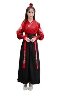 Image 3 - Kadın Ulusal Kostüm peri elbisesi Tang Hanedanı Antik Kostümleri için Sahne Çin Halk Dans elbise Klasik Hanfu Elbise
