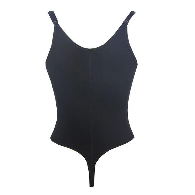 0c956e4e4e Plus Women s Zipper Braless Latex Thong Style Body Shaper Sexy Lingerie  Black Slimming Underbust Corset Waist Cinchers S-3XL