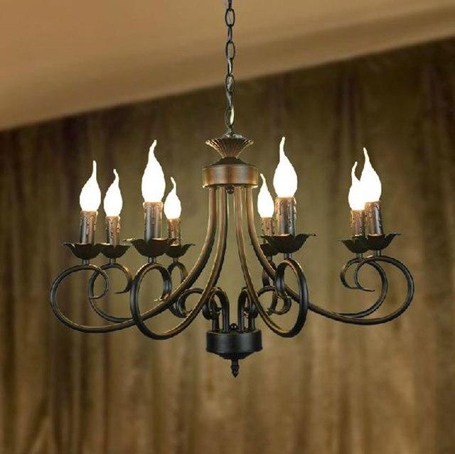 110 240v america style wrought iron chandelier in 8 lights for 110 240v america style wrought iron chandelier in 8 lights for parlour lighting restaurant lamp aloadofball Images