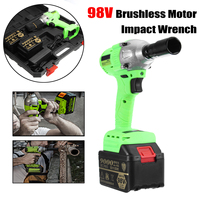 98V Li ion Cordless Electric Wrench 520Nm High Torque Impact Wrench Brushless with 2 Battery 220V Power Tool