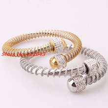 8mm Fashion Design Twisted Bracelet Stainless Steel Silver or Sikver Gold Open Cuff Bangle Cable Wire Bracelet Pulseras Jewelry