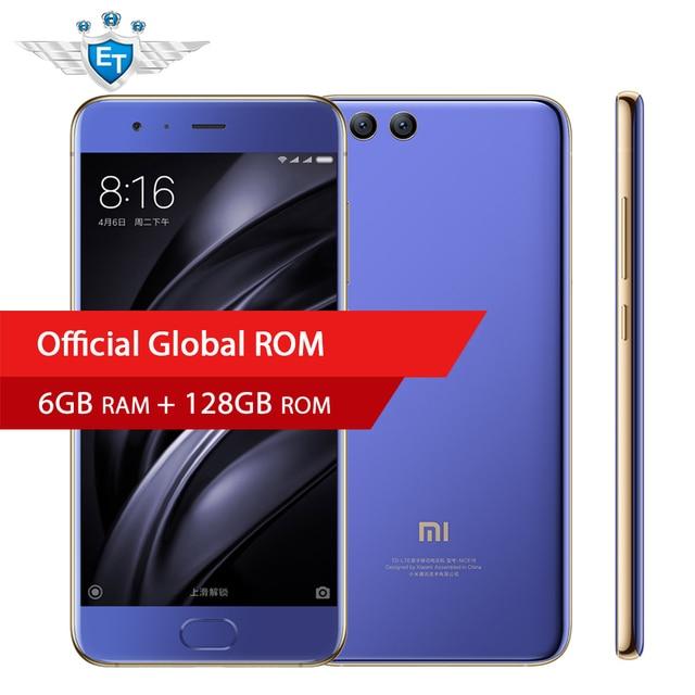 Оригинал Сяо Mi 6 Mi 6 смартфон 6 ГБ 128 ГБ Глобальный Встроенная память Snapdragon 835 Octa core 2.45 ГГц 5.15 ''1920x1080 18 Вт Быстрая зарядка NFC