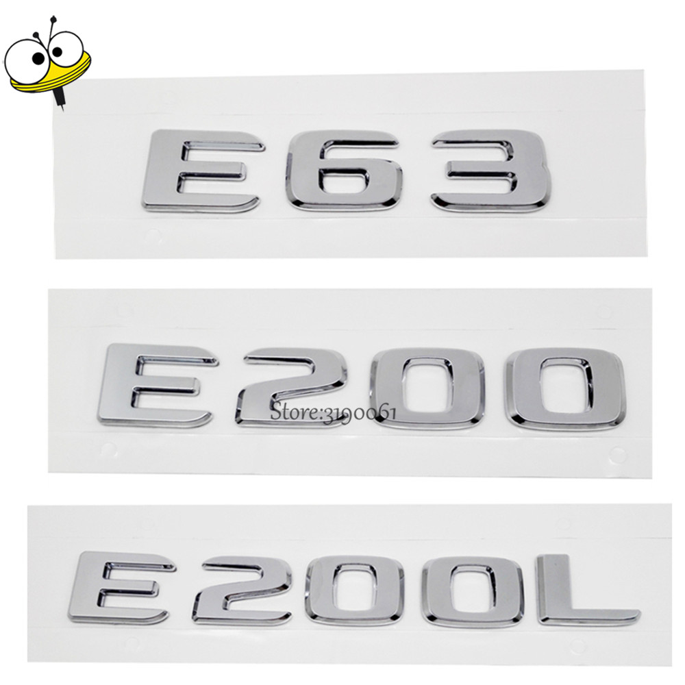 New Car Rear Sticker Emblem Badge Decal Car Styling Number Auto Car Accessories For Mercedes Benz E Class E63 E200 E200L AMG GT for mercedes benz viano 2010 2017 car rear trunk security shield cargo cover high qualit black beige auto accessories