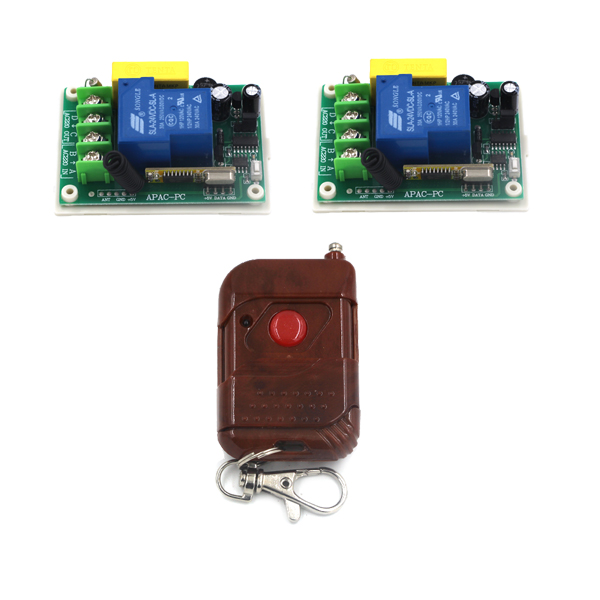 AC 220V 1 CH 1CH 30A RF Wireless Remote Control Switch System,1 Transmitter + 2 Receiver,315/433MHZ SKU: 5309 ac 220 v 1 ch wireless remote control switch system 4x transmitter with 2 buttons 1 x receiver light lamp ledon off 315 433mhz