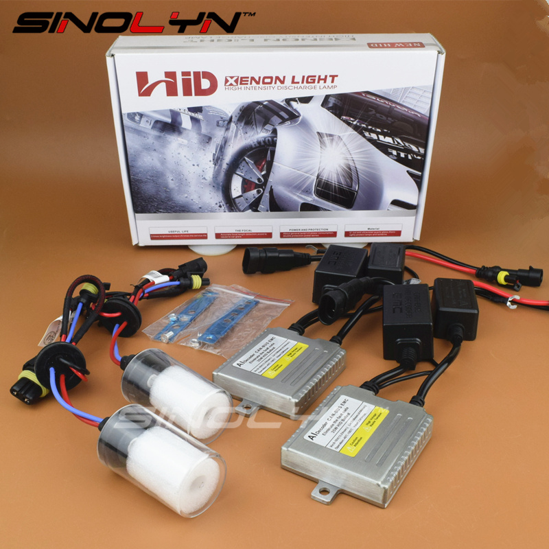 Canbus Error Free AC HID Xenon Conversion Kit EMC Ballast Headlights Fog lights H1 H3 H7 9005 HB3 9006 HB4 D2S HB4 H11 D2H