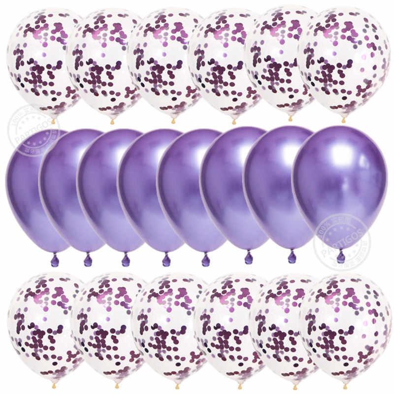 20 قطعة بالونات الذهب الوردي النثار مجموعة الكروم بالون عيد ميلاد ديكور حفلات الزواج الزفاف الذكرى globals لامع
