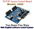 Duas Portas Duas Maneiras controlador de placa de controle de acesso RFID cartão de controle de acesso TCP com o Inglês Software do Sistema Do Controlador
