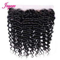 Jaycee Hair Malaysian Deep Wave Hair Lace Frontal 13*4 Ear to Ear One Piece 10 20 Inches Remy Human Hair Closure Frontal