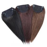 12 Manual Made Hair 1 Pcs 2 Clips In Imitation Human Hair Extensions Full Head Set Straight Natural Hair Can Be Dyed JINKAILI