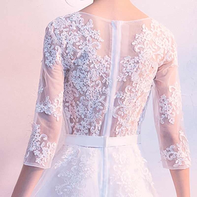 Image 5 - DongCMY Prom Dresses Long White Color Lace Flower Women Married  Party Dress Gownprom dressesprom dress fashionprom fashion dresses -