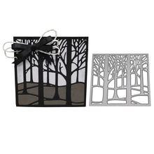 Дерево рамки металлический Трафаретный вырубной Штамп для diy