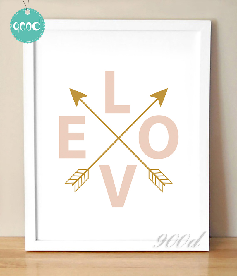 Love And Arrows Print Canvas Art Painting Poster