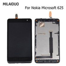 LCD Display For Nokia Microsoft Lumia 625 Touch Screen Digitizer Full Assembly Replacement Parts Black With Frame 4.7 Inch new 4 inch digitizer touch screen for microsoft lumia 435 touchscreen panel replacement parts for lumia 532 free shipping