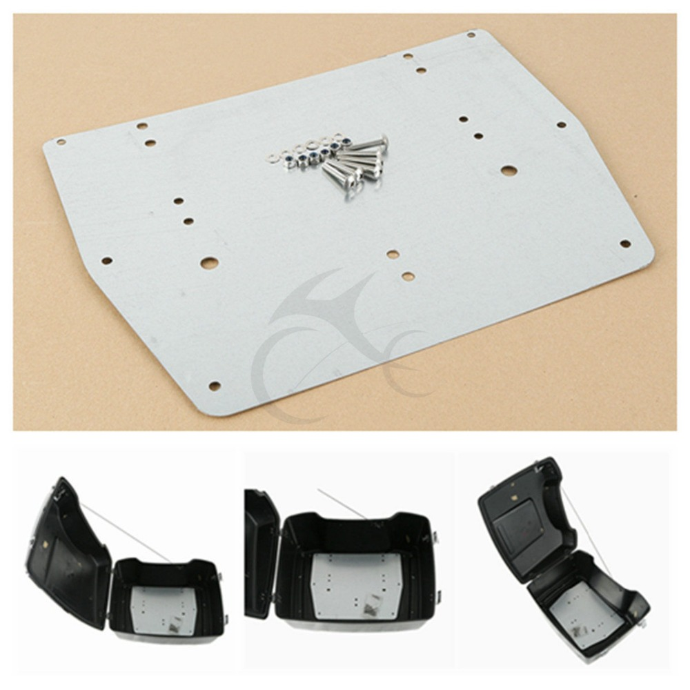 Tour Pak Pack Trunk Base Plate For Harley Road King Street Electra Glide 93-13 Motorcycle tour pak pack trunk insert carpet liner for harley touring road king glide electra street glide14 16