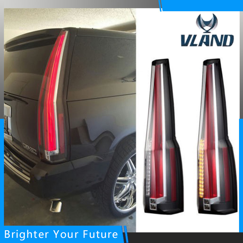 1 Pcs Tail Lights Rear For Chevy Chevrolet Suburban Tahoe GMC Yukon 2007-2014 Rear Lamp Brake Light Cadillac Escalade Style red turn light led tail lights for cadillac escalade esv 2007 2008 2009 2010 2011 2012 2014 auto accessories rear lamp assembly