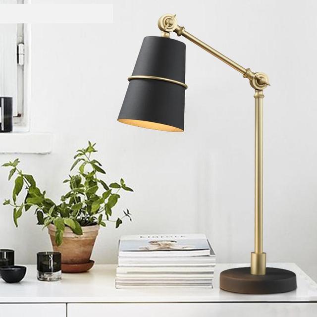 Nordic design Black Boss Desk Lamp Banker's table lamp Living Room Bedroom Iron Art Reading Led Desk Table Lamp stody work lampe