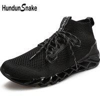 Hundunsnake High Top Running Socks Sneakers Men Black Sports Shoes For Male Knit Running Shoes Men Sport Gym Shoes Men Walk T649