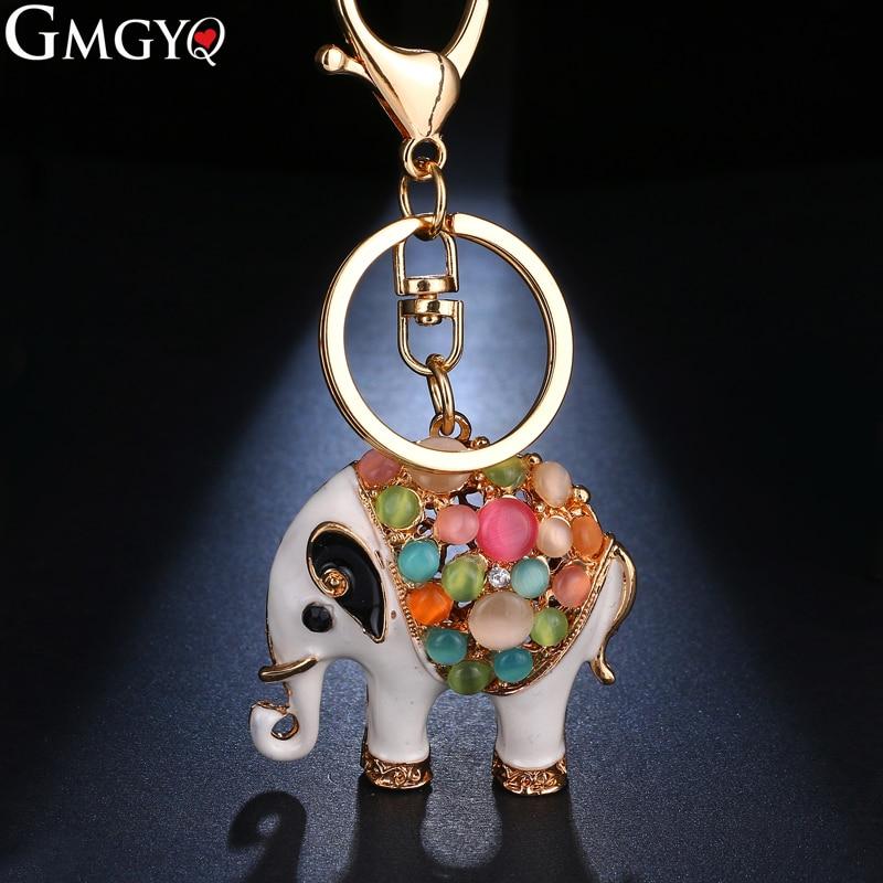 GMGYQ Creative Pendant Exquisite Retro Fashion Elephant Key Chain Lady Bag Car Key Pendant Gift For Women Direct Deal Wholesale