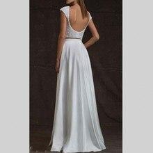 Mode Prom Kleider Lange Neue 2017 Mit Perlen Perlen Eine Linie Satin Zwei Stücke Abendgesellschaft Prom Kleid vestido de festa