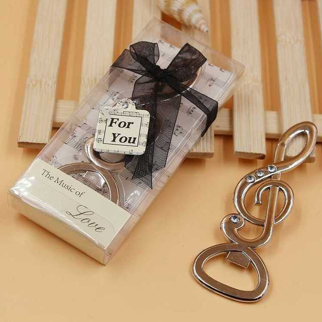 18pcslot Silver Musical Note Bottle Opener Wedding Favors In Party