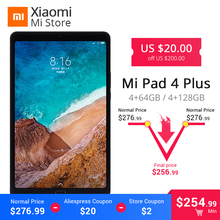 Xiao mi mi Pad 4 Plus 64 GB/128 GB Snapdragon 660 AIE mi Pad 4 Plus LTE 8620 mAh baterii 10.1 ''16:10 1920x1200 ekran 13MP tabletki 4(China)