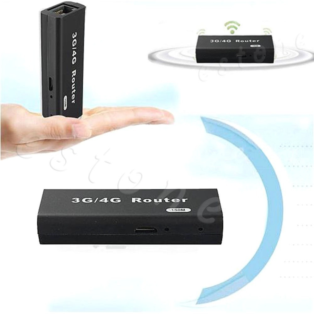 Caliente Mini portátil de 3G/4G Wireless-N USB WiFi Router AP 150 Mbps WiFi Lan RJ45