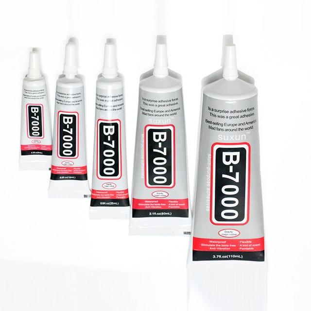 1 יחידות 15 ml/25 ml B-7000 רב תכליתי דבק דבק אפוקסי שרף Diy מלאכות זכוכית מסך מגע סלולרי טלפון סופר דבק B7000