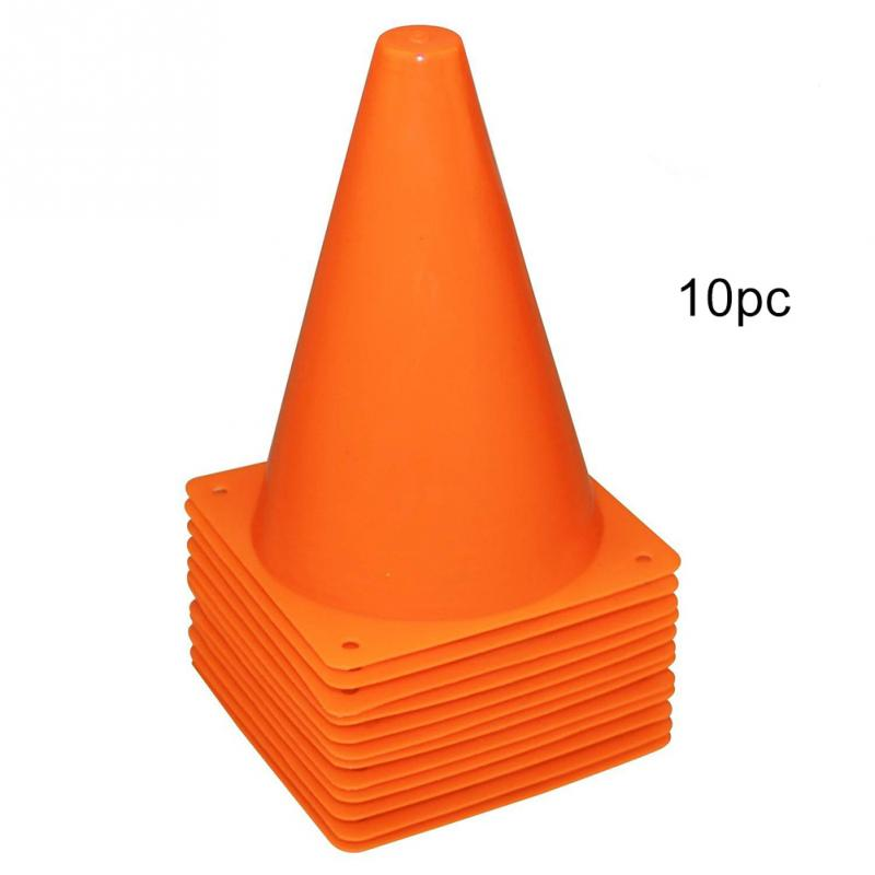 10pcs Barrier Bucket Training Equipment Home With Hole Traffic Cone Springback Training Equipment Marking Cup