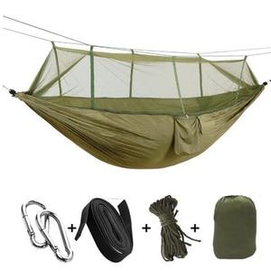 Image 5 - أرجوحة خفيفة في الهواء الطلق للتخييم والصيد ، شبكة ناموسية ، بارجوحة لشخصين ، حديقة هاماكا ، سرير معلق ، الترفيه هاماك